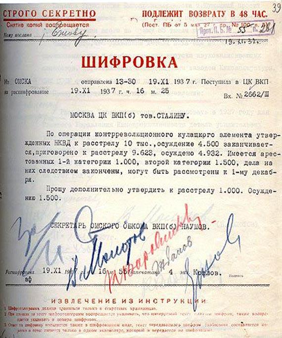 «Сталин не виноват в репрессиях»
